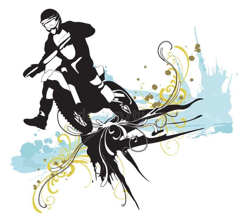 motocross ilustracji