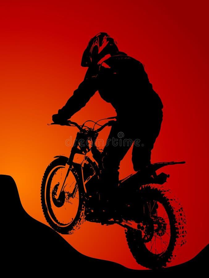 motocross royaltyfri illustrationer