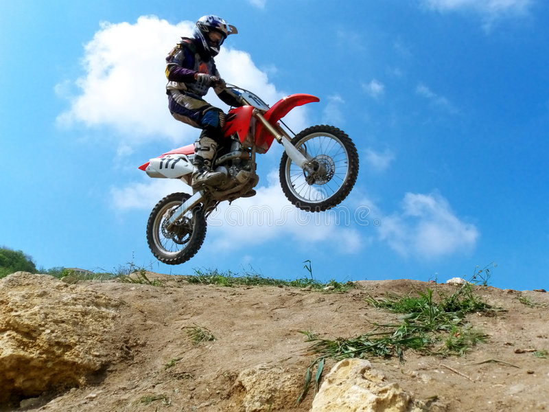 Motocross. Image of motocross participants. Element of design