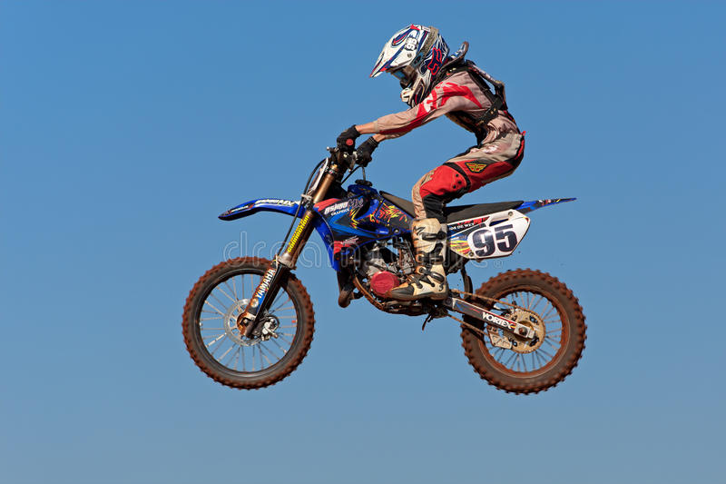 Motocross action royalty free stock photos