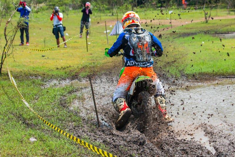 Motocross, akcja, rower zdjęcie stock