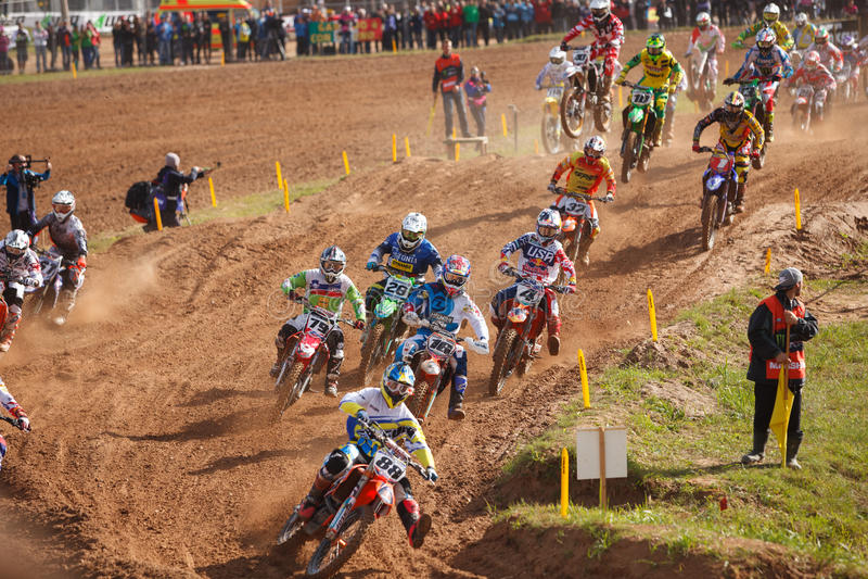 Motocross av nationer 2014 royaltyfria bilder