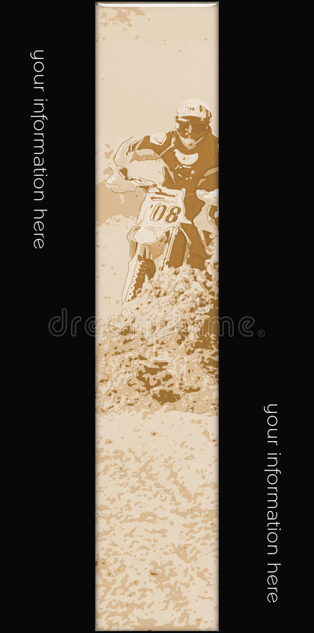 MotoCross Banner 010 Royalty Free Stock Photo