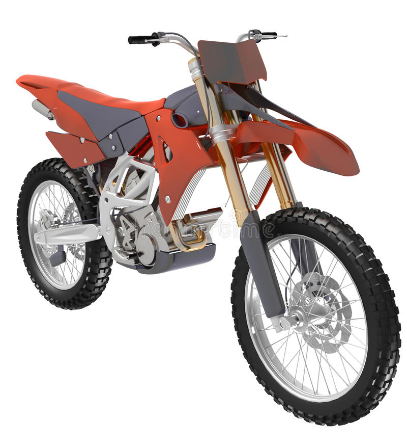 Download Motocross bike stock illustration. Image of bike, isolated - 24028987