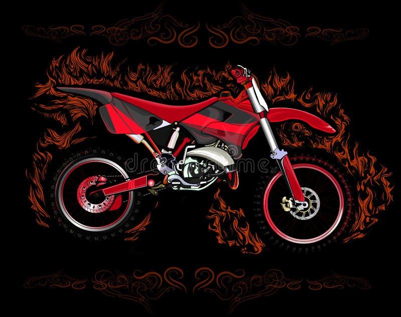 Motocross bike rad vector illustration