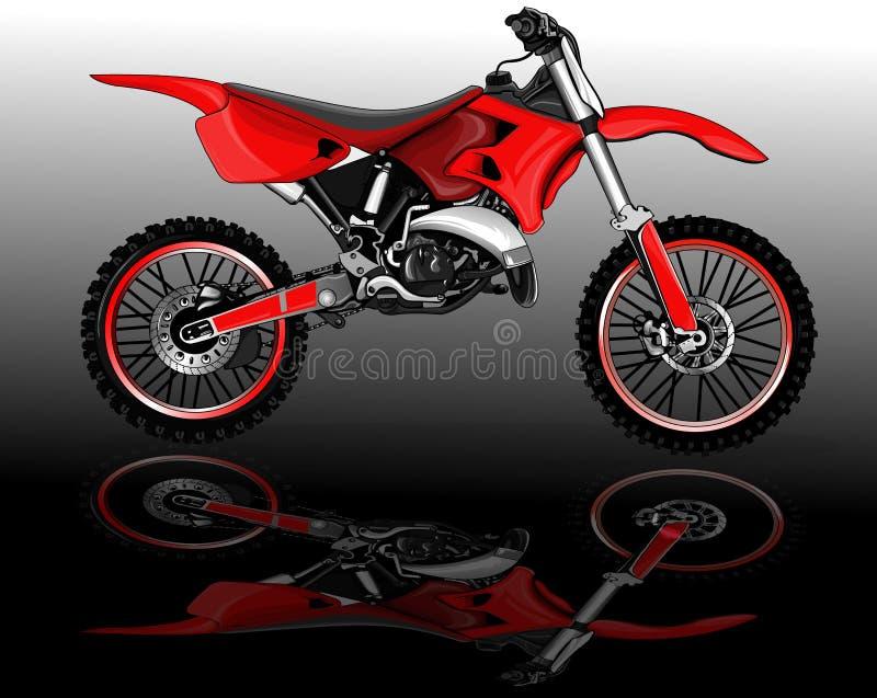 Motocross bike rad royalty free illustration