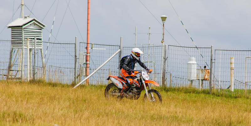 Motocross biker royalty free stock photo