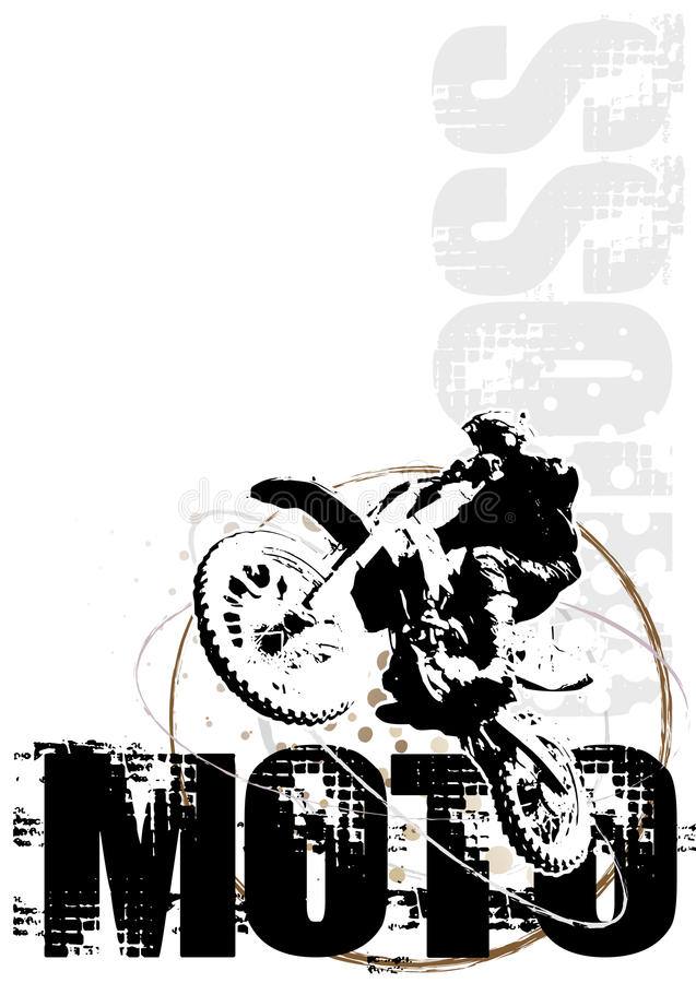 Download Motocross Circle Poster Background Red Stock Photo - Image: 12306980
