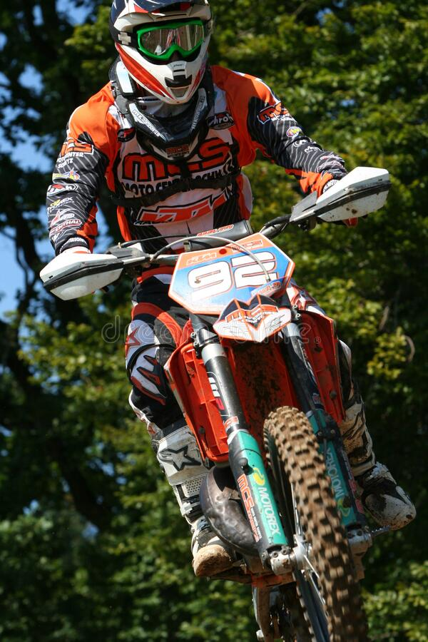 Motocross competitor 92 royalty free stock images