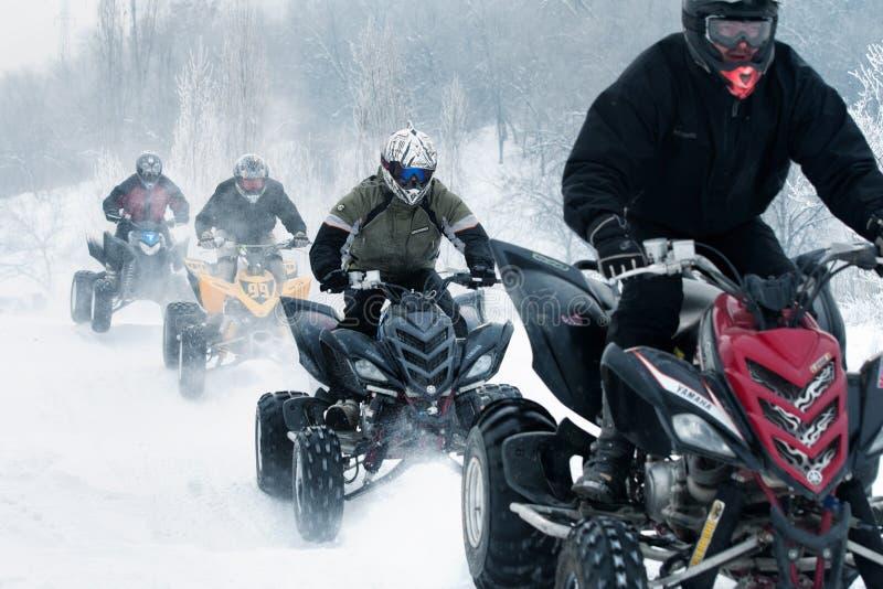 Motocross de l'hiver images libres de droits