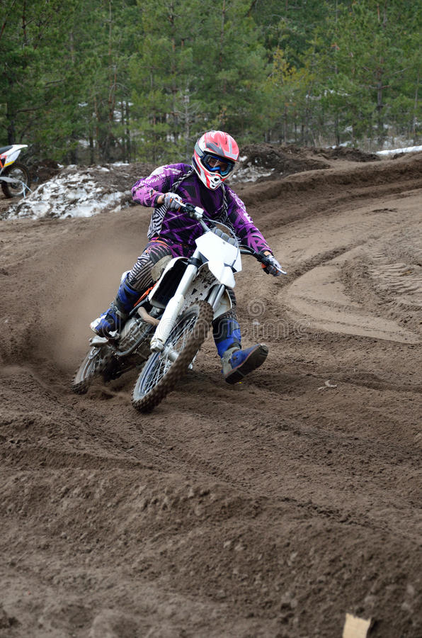 Download Motocross Departure With Out Of Left-turn Stock Photo - Image: 24254986