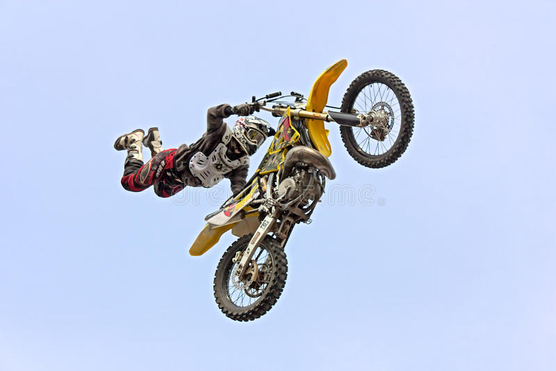 Motocross di stile libero fotografie stock
