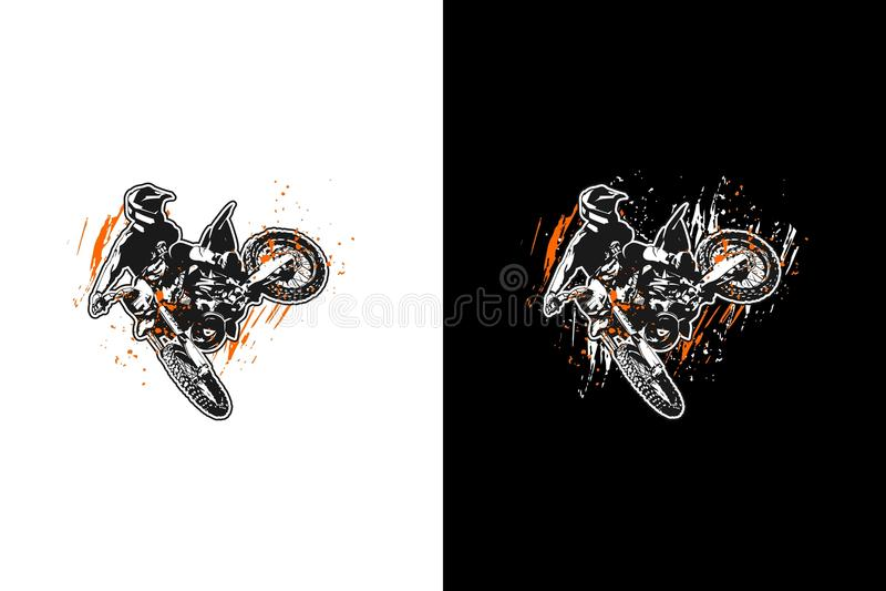 Motocross doskakiwanie ilustracji
