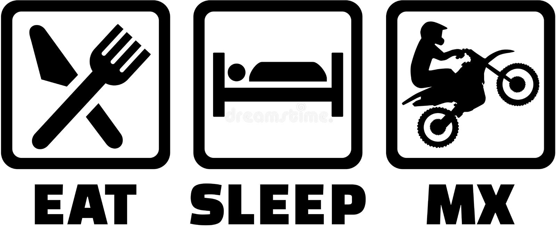 Eat Sleep Mx Stock Vector Illustration Of Silhouette