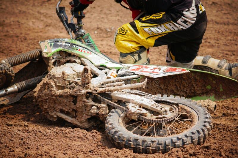 Motocross em Tailândia imagens de stock