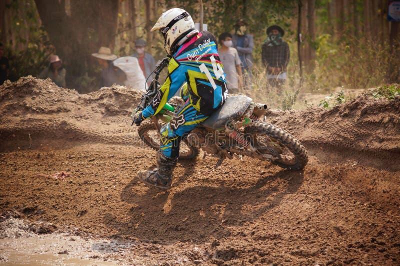 Motocross em Tailândia imagem de stock royalty free