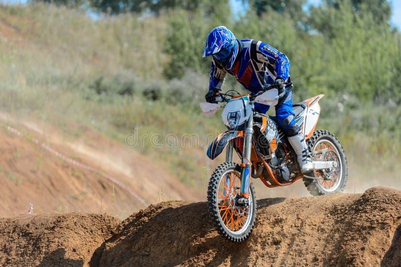 Motocross en hauteur image stock