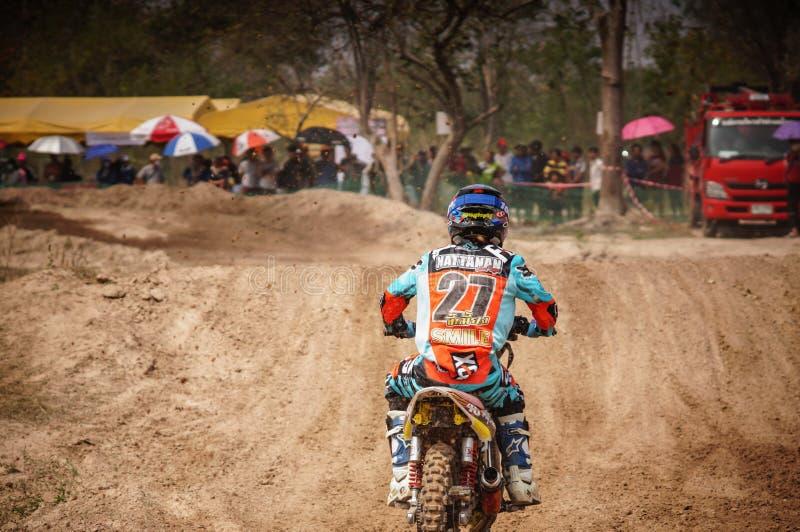 Motocross en Thaïlande images libres de droits