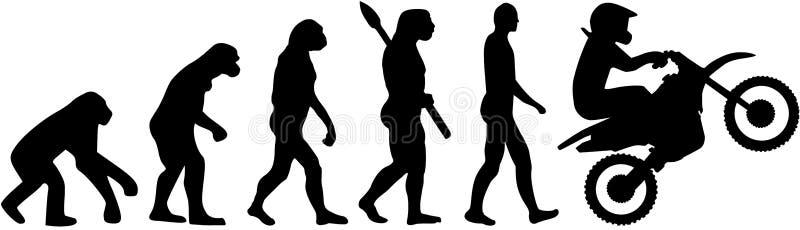 Motocross ewolucja royalty ilustracja