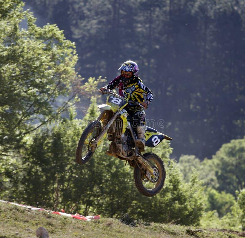 motocross för b-bulenskihopp fotografering för bildbyråer