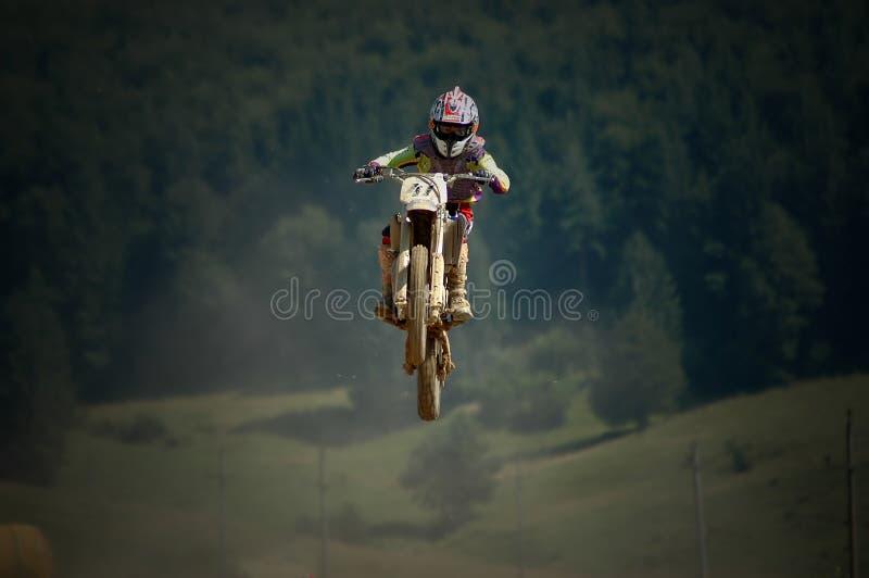 Motocross fly royalty free stock photo