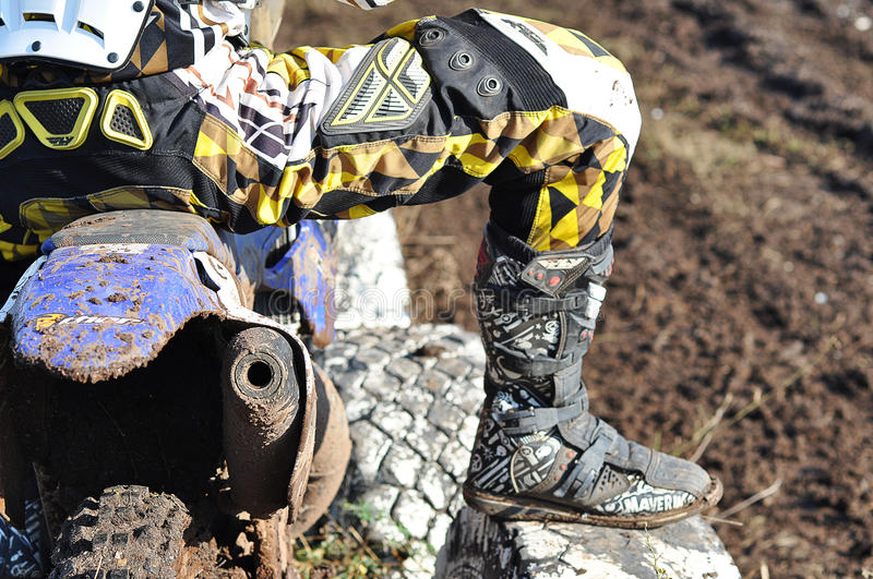 Motocross Junior Championships royaltyfri foto