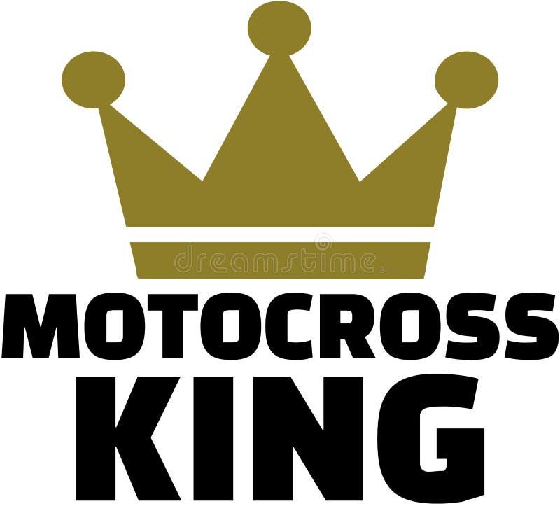 Motocross królewiątko z koroną ilustracji