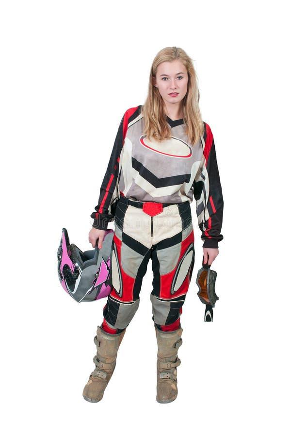 Download Motocross Motorcycle Girl stock image. Image of fashion - 37652619