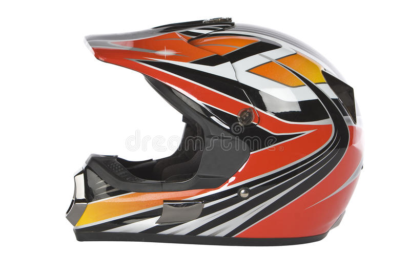Motocross motorcycle helmet royalty free stock photo