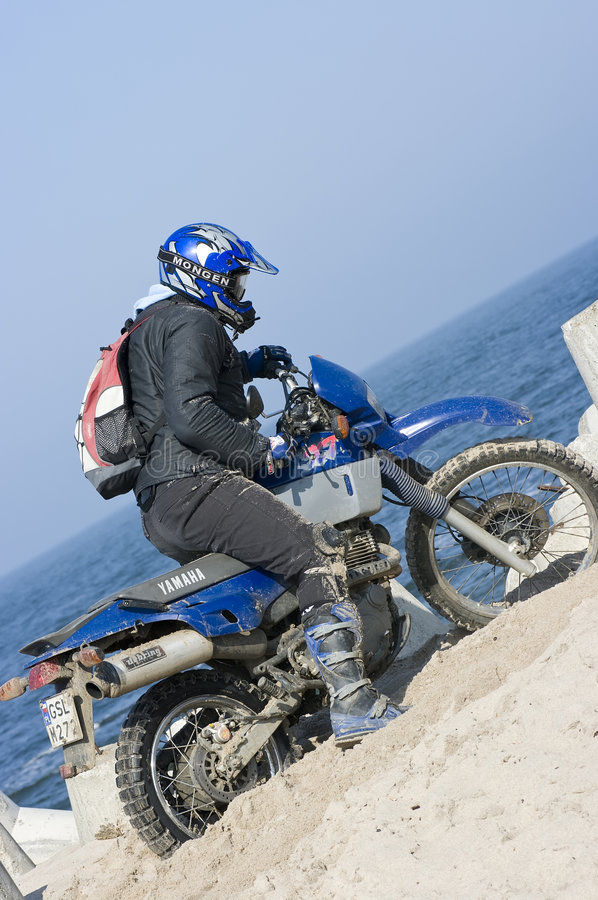 Motocross na areia imagens de stock royalty free
