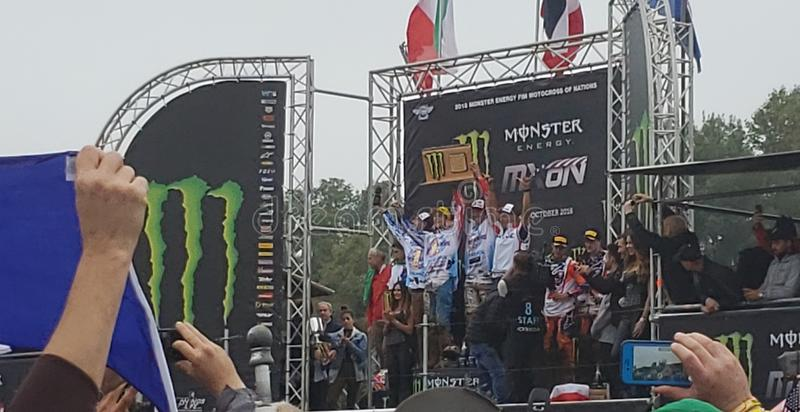 Motocross narodu zwycięzca zdjęcia royalty free