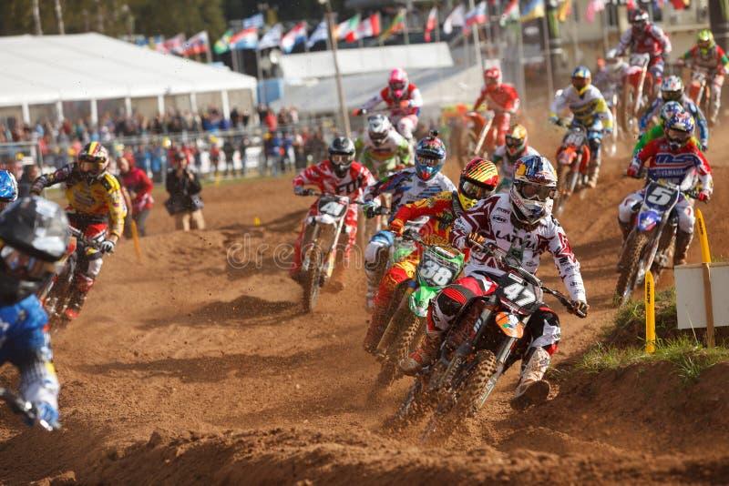 Motocross narody 2014 obrazy stock