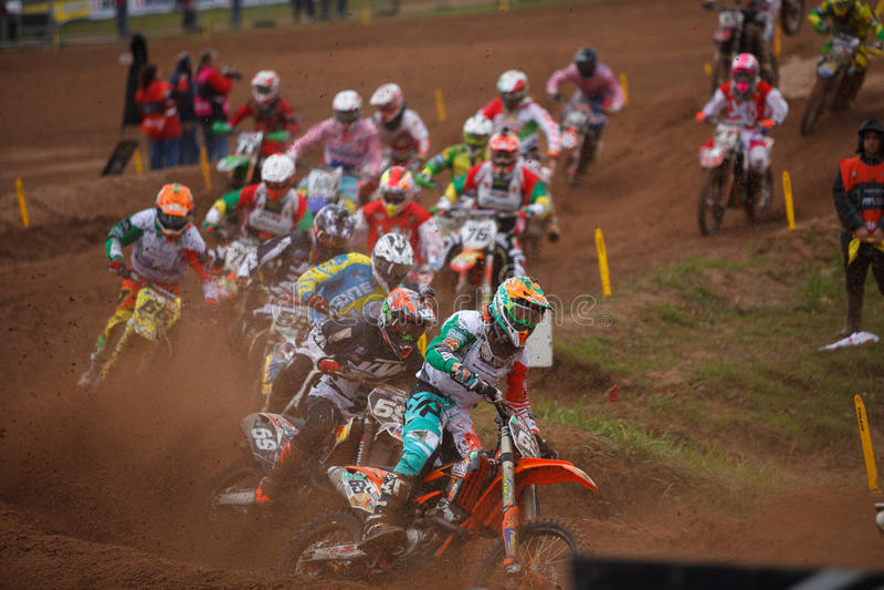 Motocross narody 2014 zdjęcie royalty free