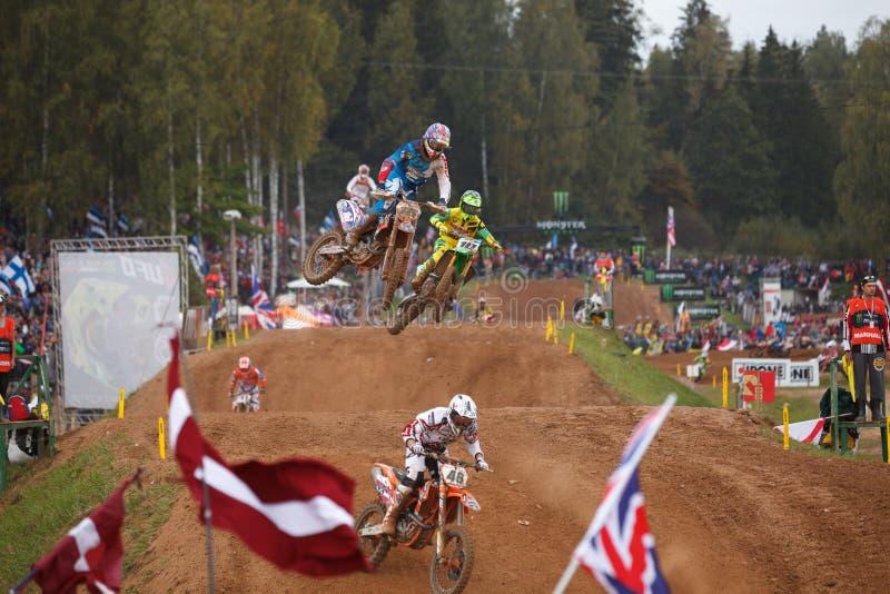 Motocross narody 2014 fotografia royalty free