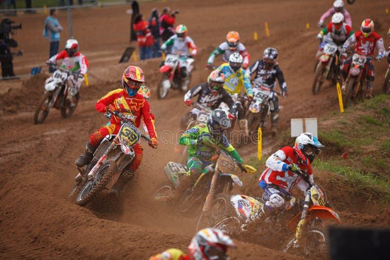 Motocross narody 2014 obrazy royalty free