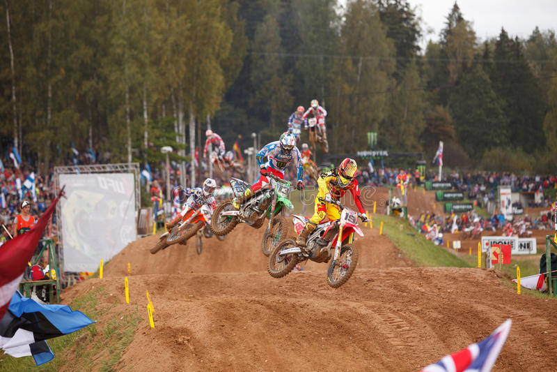 Motocross of Nations 2014 stock photos