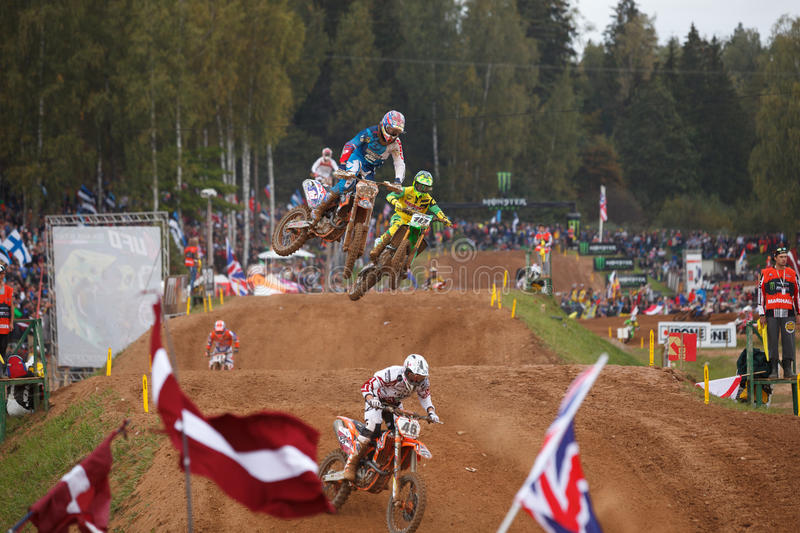Motocross of Nations 2014 royalty free stock photography