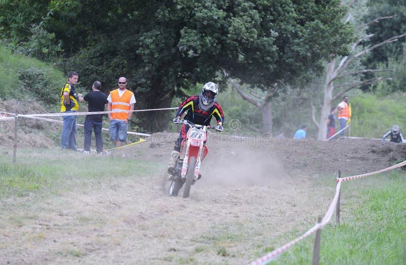 Motocross no EL Berron, as Astúrias, spain imagens de stock royalty free