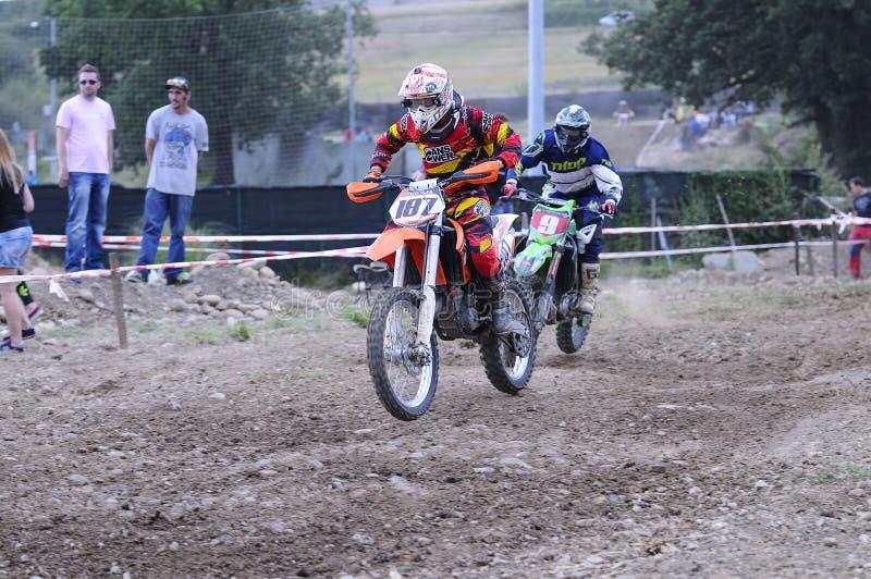 Motocross no EL Berron, as Astúrias, spain fotos de stock