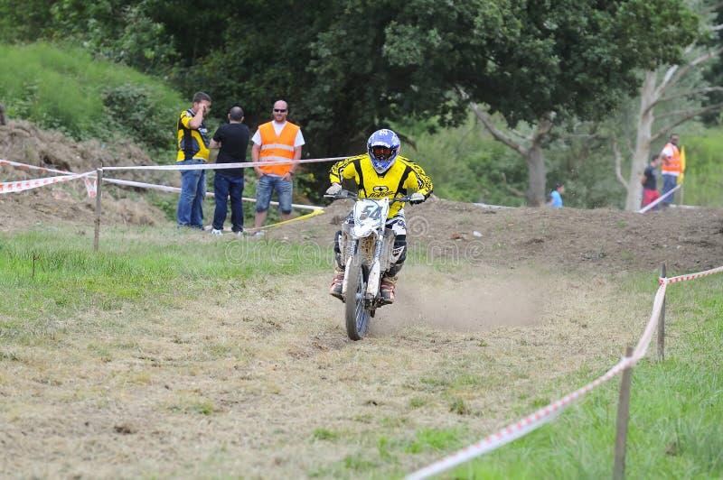 Motocross no EL Berron, as Astúrias, spain foto de stock royalty free