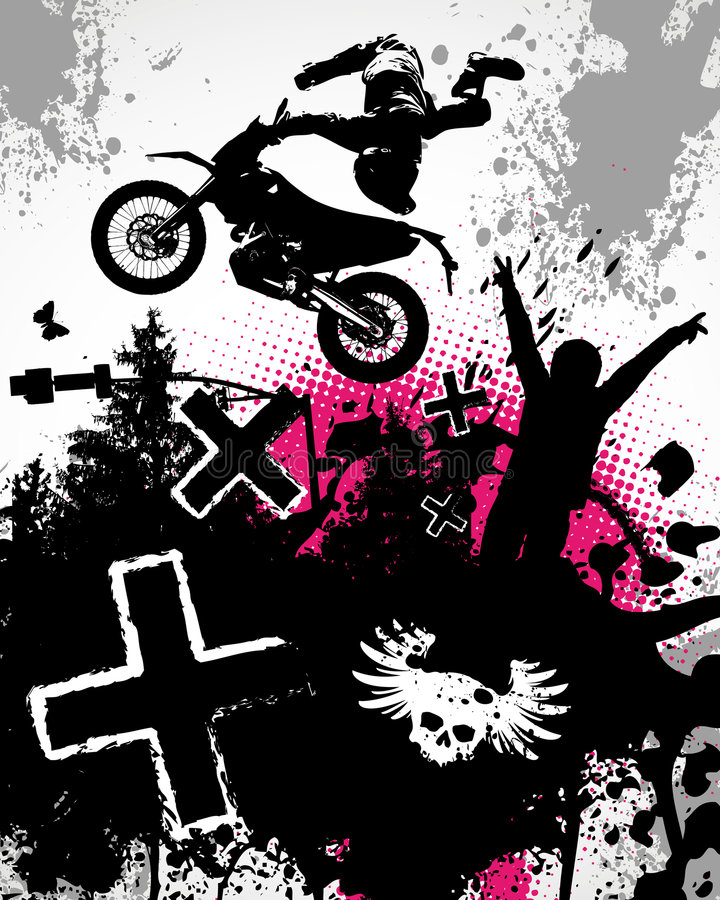 Free Motocross Poster Stock Images - 5778554