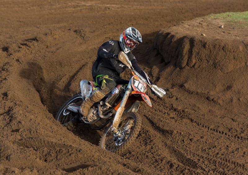 Motocross practise participant in Tain MX, Scotland. royalty free stock photo