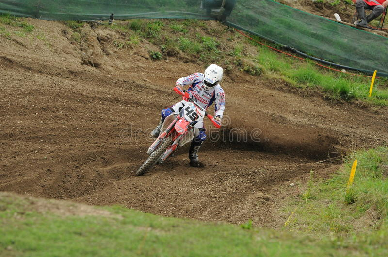 Download Motocross racer editorial stock image. Image of turn - 20618044