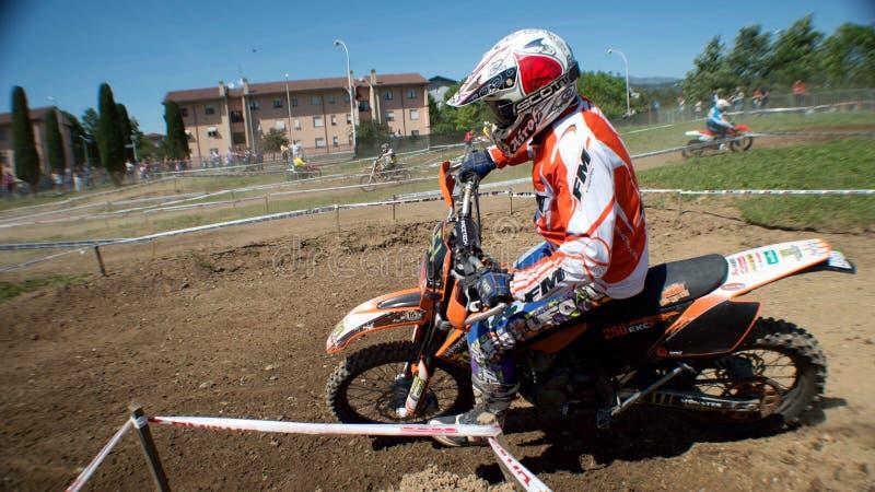 Motocross racer royalty free stock image