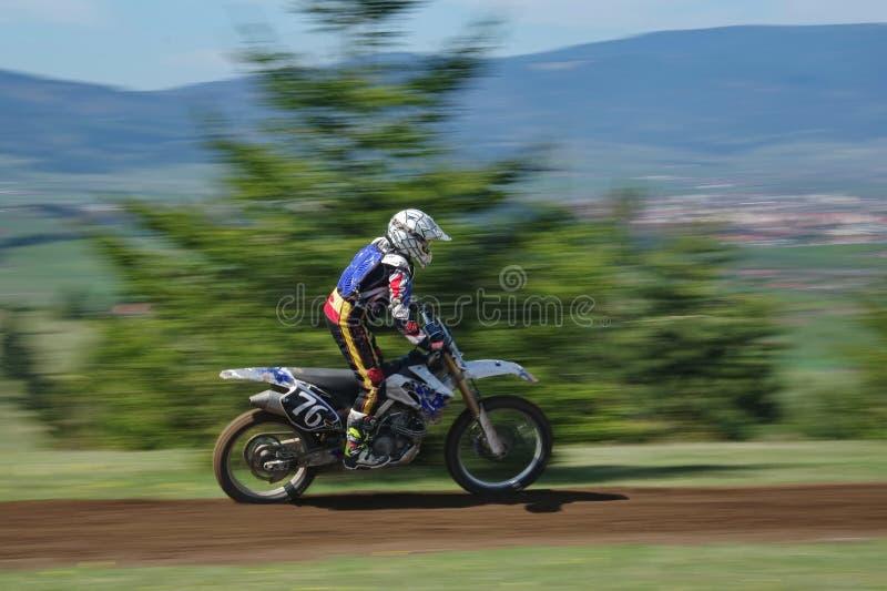 Motocross racer stock photography