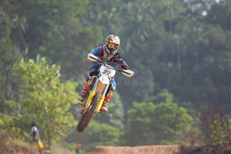 Motocross racer stock photo