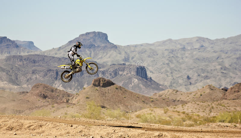 A Motocross Racer Practices at SARA Park royalty free stock photo