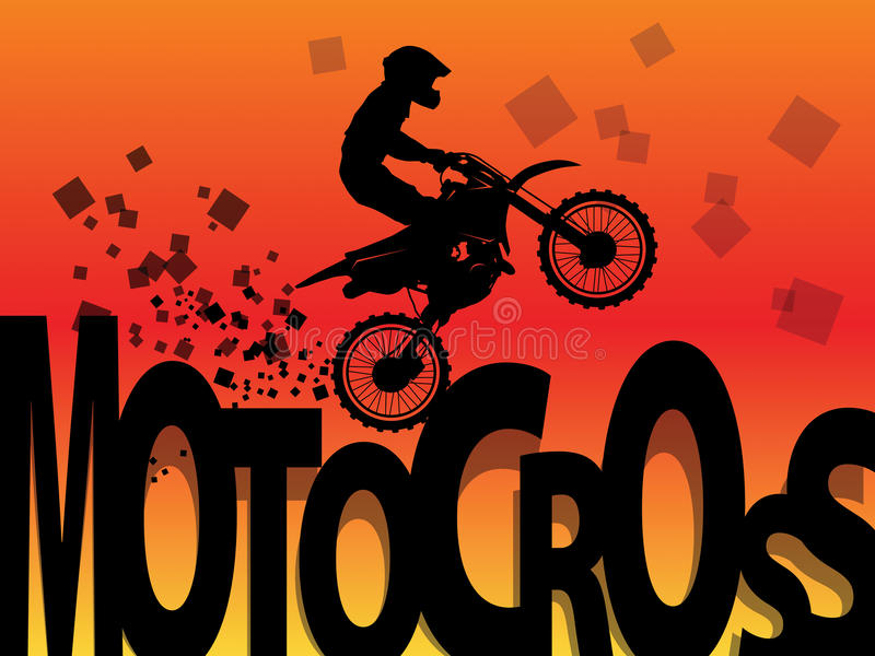 Motocross racing background vector illustration