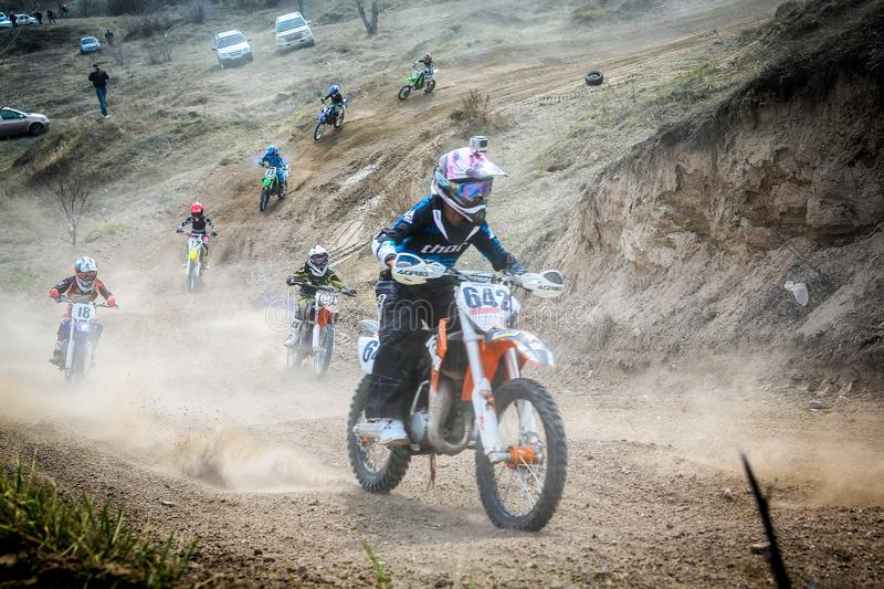 Motocross in the Republic of Khakassia 012 stock images