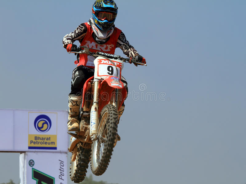 Download Motocross Rider Veer Patel Jumping The Tabletop Editorial Stock Photo - Image: 12009943